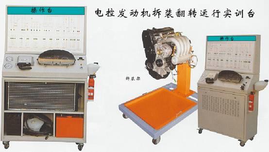 丰田汽油发动机总成台架,电控发动机可运行,翻转架台
